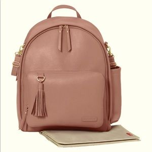 Dusty Rose Leather Backpack